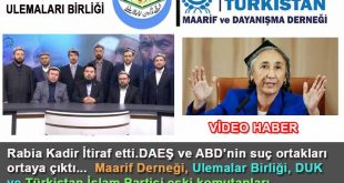 DAEŞ ve ABD'nin suç ortakları, Maarif Derneği, Ulemalar Birliği, DUK ve Türkistan İslam Partisi eski komutanları.