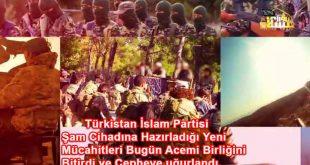 Türkistan İslam Partisi Şam Cihadına Hazırladığı Yeni Mücahitleri Bugün Acemi Birliğini Bitirdi ve Cepheye uğurlandı.