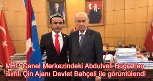 MHP Genel Merkezini mekan edinen Abdulveli Buğrahan isimli Çin Ajanı Devlet Bahçeli ile görüntülendi